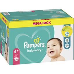 Pampers Pampers Couches baby-dry taille 4+, 10-15kg Le paquet de 82 couches