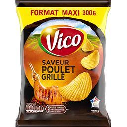 Vico Vico Chips saveur poulet grillé le sachet de 300 g - Format Maxi