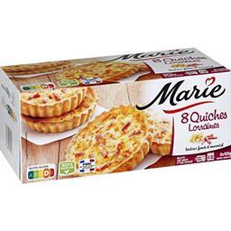Marie Marie Quiches lorraines les 8 quiches de 100 g