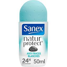 Sanex Sanex Natur Protect - Déodorant 24h anti traces blanches à la pierre d'alun le roll-on de 50 ml