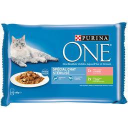 Purina One Purina One Assortiment effilés en sauce spécial chat stérilisé les 4 sachets de 85 g