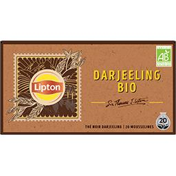 Lipton Lipton Thé noir BIO darjeeling la boîte de 20 sachets mousseline
