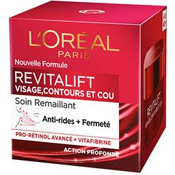 L'Oréal L'Oréal Paris Revitalift - Soin remaillant anti-rides + fermeté, visage contours et cou le pot de 50 ml