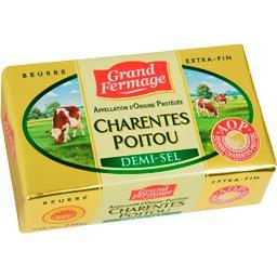 Grand Fermage Grand Fermage Beurre Charentes Poitou demi-sel la plaquette de 250 g
