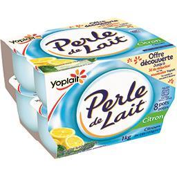 Yoplait Yoplait Perle de lait - spécialité laitière au citron les 8 pots de 125g - 1kg