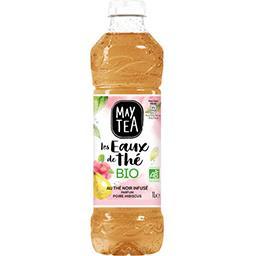 May Tea May Tea Les Eaux de Thé - Boisson thé noir parfum poire hibiscus BIO la bouteille de 1 l