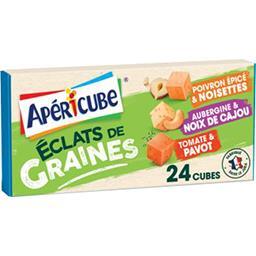 Apéricube Apéricube Fromage fondu apéritif éclats de graines aux légumes la boite de 24 cubes - 125 g