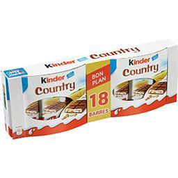 Kinder Kinder Country - Barres céréalières chocolat au lait la boite de 18 barres - 423 g - Bon Plan