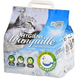 Tranquille L'Hygiène Tranquille Litière minérale pour chat le sac de 9 l