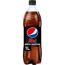 Pepsi Pepsi Max - Soda au cola zéro sucres la bouteille de 1 l