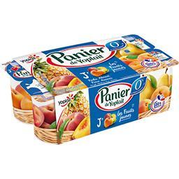 Yoplait Panier de Yoplait Yaourt 0% MG Les Fruits Jaunes les 8 pots de 130 g