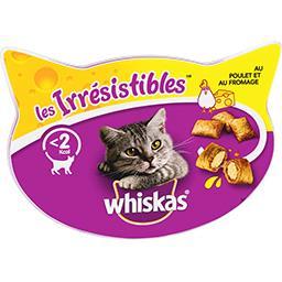 Whiskas Whiskas Les Irrésistibles - Friandises au poulet et au fromage pour chats la boite de 60 g