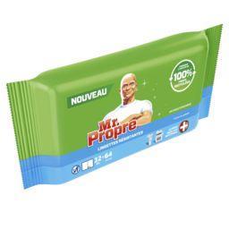 Mr. Propre Mr Propre Ultra power, lingettes antibacteriennes Le paquet de 64 lingettes