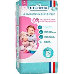 Carryboo Carryboo Couches non-irritantes motifs 'hiboux' T4 : 7-18 kg le paquet de 48