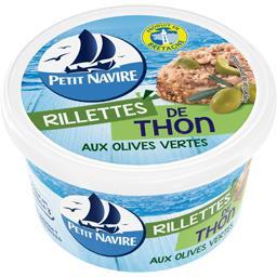 Petit Navire Petit navire Rillettes de thon aux olives vertes le pot de 125 g