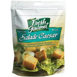 Gourmet Fresh Gourmet Croûtons grillés recette salade Caesar le sachet de 80 g