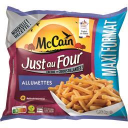 Mc Cain McCain Just au Four - Frites Allumettes le sachet de 1,56 kg