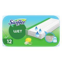 Swiffer Swiffer lingettes humides fraîcheur citron Le paquet de 12 lingettes