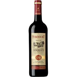 Cellier Yvecourt Yvecourt Bordeaux, vin rouge la bouteille de 75 cl