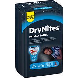 Huggies DryNites Sous-vêtements de nuit absorbants garçon 17-30 kg le paquet de 16
