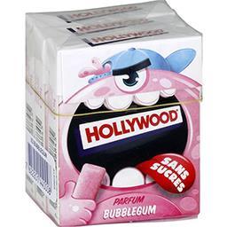 Hollywood Hollywood Chewing-gum parfum Bubblegum sans sucres les 3 boites de 14 g