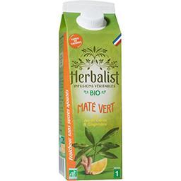 Herbalist Herbalist Boisson Maté Vert Citron Gingembre Bio la brique de 1l