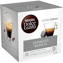 Nescafé Nescafé Dolce Gusto - Capsules de café Espresso Barista les 16 capsules de 7 g