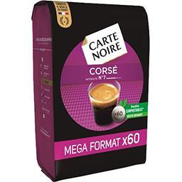 Carte Noire Carte Noire Dosettes de café Corsé le paquet de 60 dosettes - 420 g - Mega Format