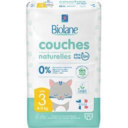 Biolane Biolane Couches bébé naturelles, taille 3 : 4-9 kg le paquet de 52