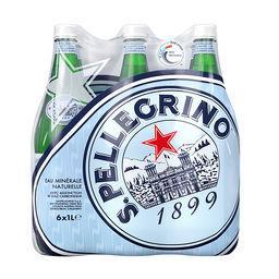 San Pellegrino San Pellegrino Eau minérale naturelle pétillante, avec adjonction de gaz carbonique le pack de 6 bouteilles de 1L - 6L