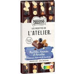 Nestlé Nestlé Grand Chocolat Les Recettes de l'Atelier - Chocolat noir myrtilles amandes & noisettes la tablette de 170 g