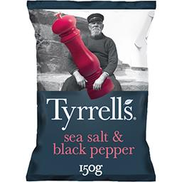 Tyrrell's Tyrrell's Chips au sel de mer et poivre noir le sachet de 150 g