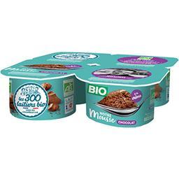 Les 300 & Bio Les 300 & bio Mousse chocolat BIO les 4 pots de 75 g