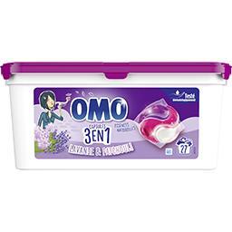 Omo Omo Lessive capsules 3en1 lavande & patchouli la boîte de 27 dosettes - 27 lavages