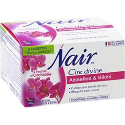 Nair Nair Cire Divine - Cire aisselles & bikini extrait d'orchidée la boite de 100 g
