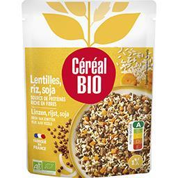 Céréal Bio Céréal Bio Cuisiné Lentilles, riz et soja BIO le sachet de 250 g