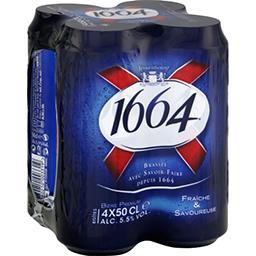 1664 1664 Bière blonde le pack de 4x50 cl