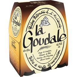 La Goudale La goudale Bière blonde à l'ancienne les 6 bouteilles de 25 cl