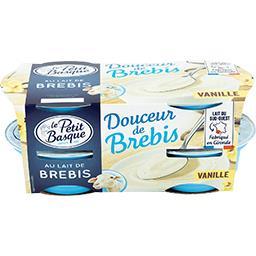 Le Petit Basque Le Petit Basque Douceur de brebis vanille les 4 pots de 100 g