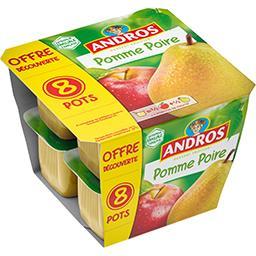 Andros Andros Dessert de pomme poire les 8 pots de 100 g - Offre Découverte
