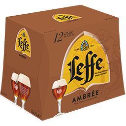 Leffe Leffe Bière d'abbaye ambrée le pack de 12 bouteilles de 25 cl