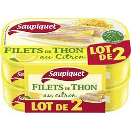 Saupiquet Saupiquet Filets de thon au citron le lot de 2 boites de 115 gr