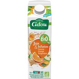 Cidou Cidou Le BIO - Boisson jus & infusion pomme orange gingembre BIO la brique de 1 l