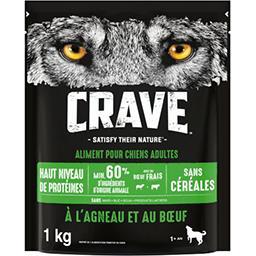 Crave Crave Croquettes à l'agneau et au bœuf pour chiens le sac de 1 kg