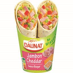 Daunat Daunat Be Wrappy ! - Sandwich jambon cheddar sauce Burger le paquet de 2 - 190 g