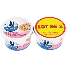 Petit Navire Petit navire Rillettes de saumon les 2 pots de 125 g