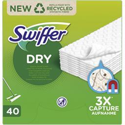 Swiffer Swiffer Recharges lingettes sèches pour sols La boîte de 40 lingettes