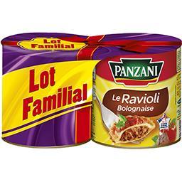 Panzani Panzani Le Ravioli pur bœuf les 2 boites de 800 g - Lot Familial