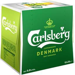Carlsberg Carlsberg Bière blonde le pack de  12x25cl