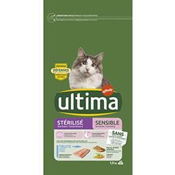 Ultima Ultima croquettes pour chat stérilisé sensible truite le sac de 1,5 kg